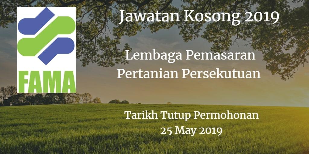 Jawatan Kosong FAMA 25 May 2019