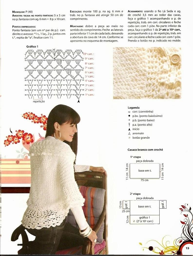 Chaqueta Capa-Casaca Crochet-Tricot Patron