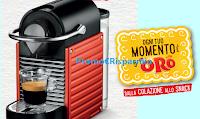 Logo Oro Saiwa '' Ogni tuo momento è d'Oro'' : gioca e vinci 126 macchine caffè Krups Pixie Red