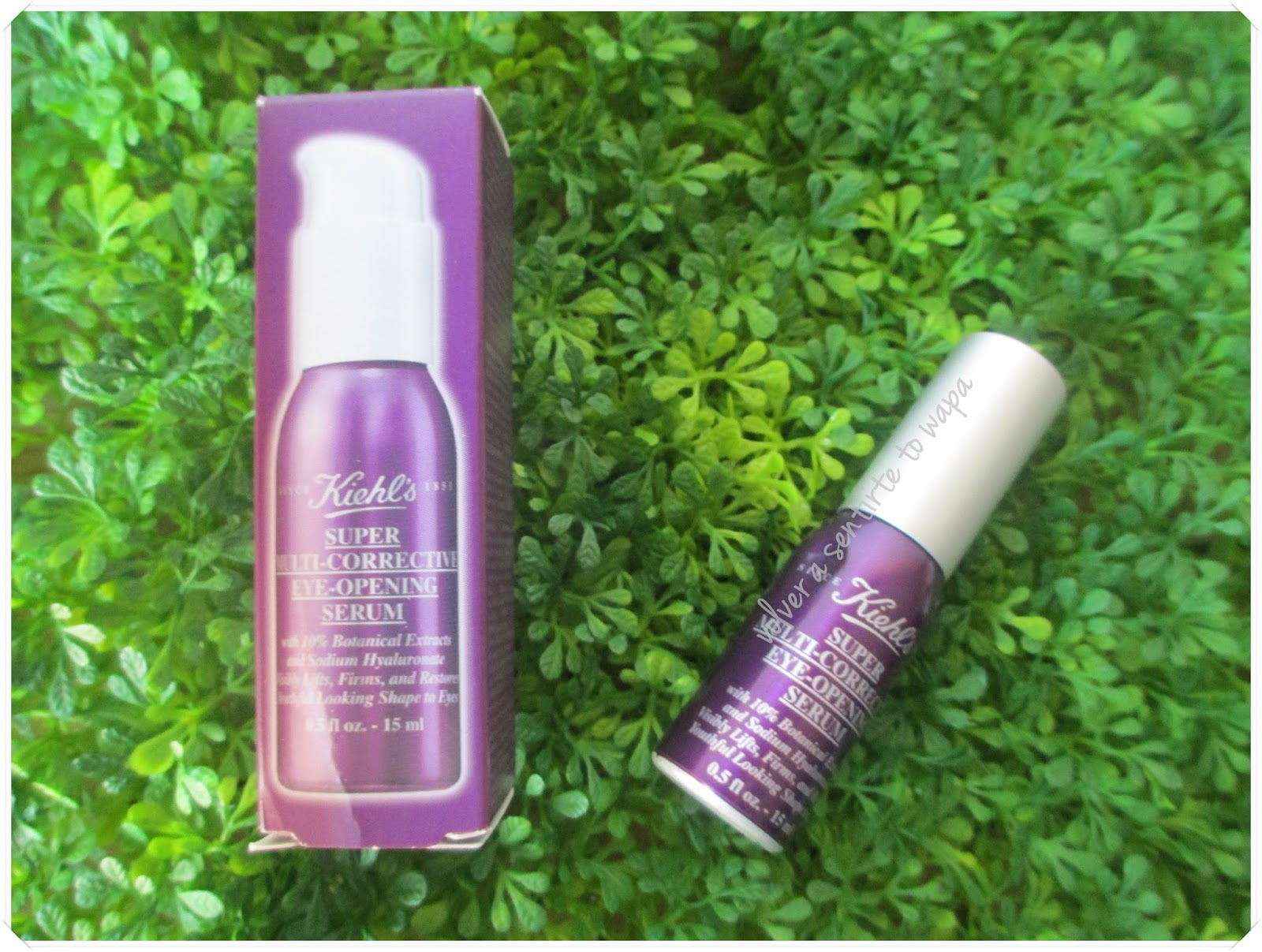 Super Multi-Corrective Eye Opening Serum de KIEHL'S {review} - Volver a Sentirte to Wapa