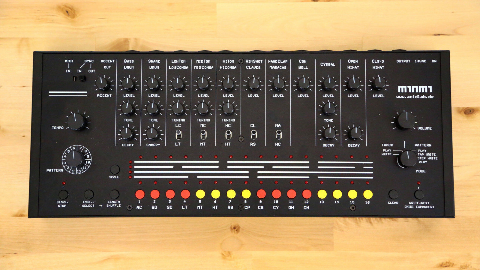 matrixsynth acidlab miami analog drum machine. Black Bedroom Furniture Sets. Home Design Ideas