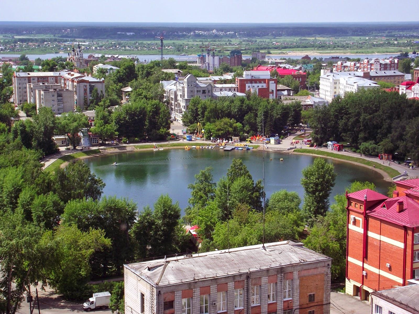 Белое озеро с высоты