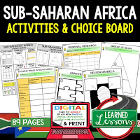 Africa Geography Activities, World Geography Graphic Organizers, World Geography Digital Interactive Notebook, World Geography Summer School, World Geography Google Activities