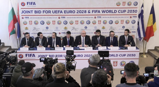 Bulgaria, Serbia, Greece and Romania offer a joint organisation of Euro 2028 and world Cup 2030
