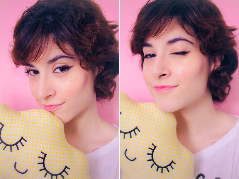 maquiagem Photoshoot glitter