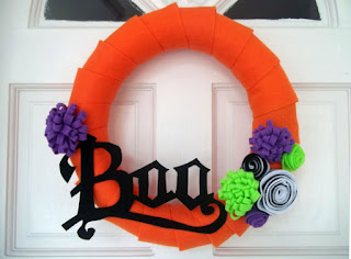boo wreath halloween decorations etsy