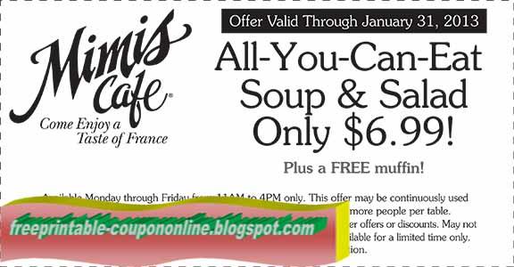 Mimis coupons