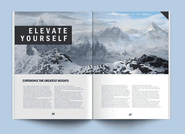 Psd Magazine Mock Up Editorial Free