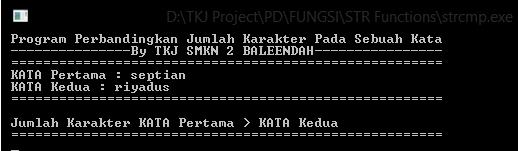 pengertian & contoh program fungsi string strcpm bahasa c