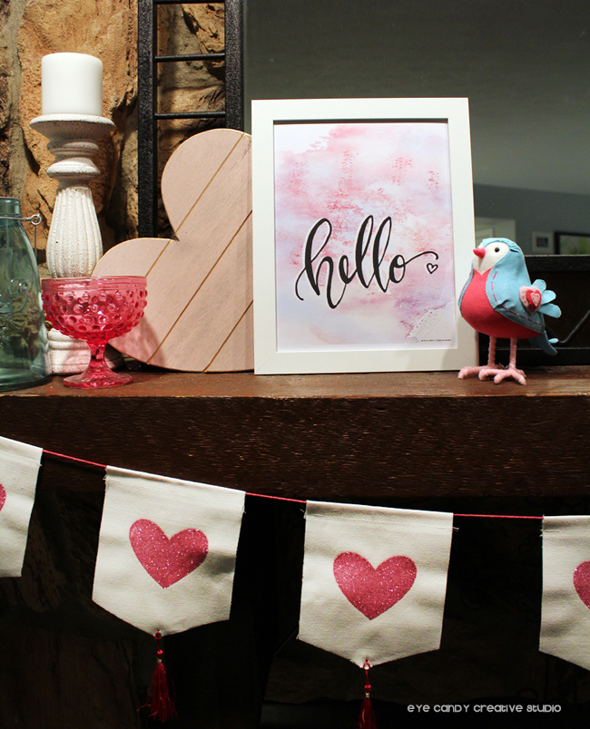 heart banner, Target finds, love bird, hello art print, free valentines print