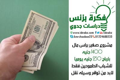 مشروع بارباح 250 جنيه يوميا للشباب الطموحين