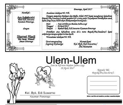 Contoh Desain Ulem Ulem Format Cdr