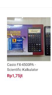 Sudah saatnya pengguna kalkulator casio FX-4500 beralih ke FX-5800