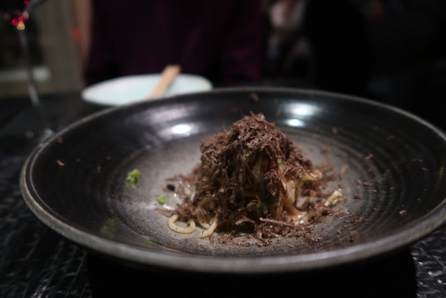Sesame noodles with black truffle shavings from San Francisco's Robin.