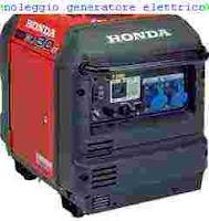 noleggio generatore elettrico