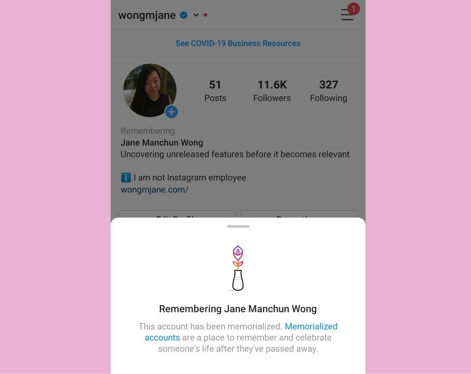 Instagram To Soon Release An In-Memoriam Feature For Deceased People