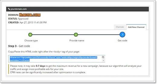Cara daftar dan pasang iklan Propeller Ads Media ke Blog 11