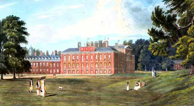 Kensington Palace  from The History of the Royal Residences by WH Pyne (1819)