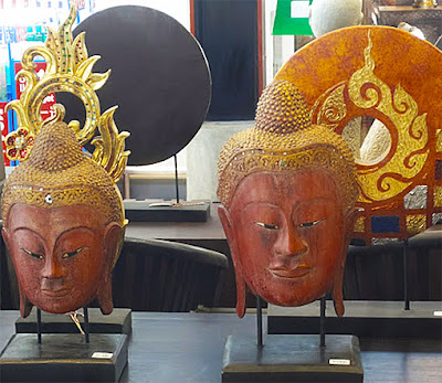 Thai style wooden Buddha head