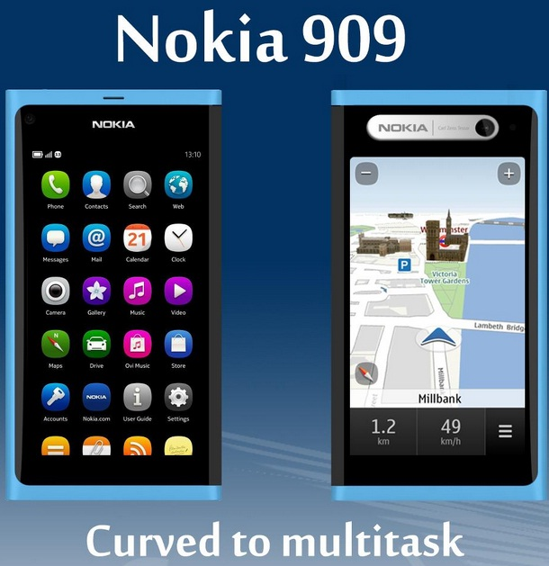 Nokia 909 Meego Based Double Sided Touchscreen Smartphone