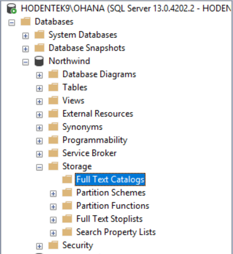 HodentekHelp: How do you create a Full-Text Catalog to a database in