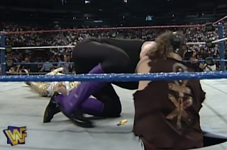 WWF / WWE - IN YOUR HOUSE 9: International Incident - Mankind drags Undertaker underneath the ring