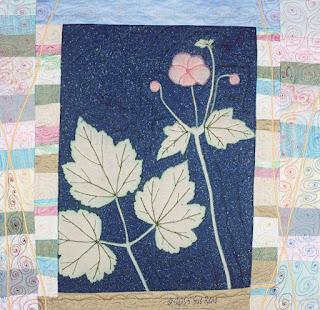 Japanese Anemone, by Sue Reno, detail 1