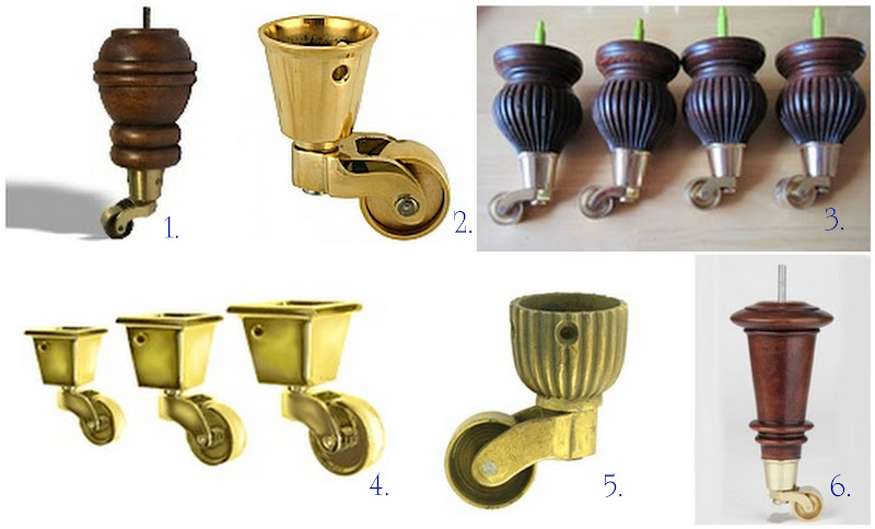 sofa legs with br castors restoration cost casters april wooden furniture ...