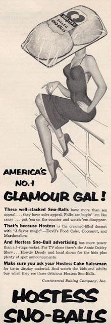 Hostess Sno-Balls -- America's No.1 Glamour Gal!