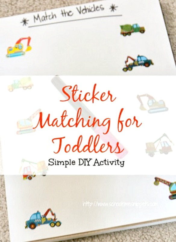 sticker matching game for toddlers