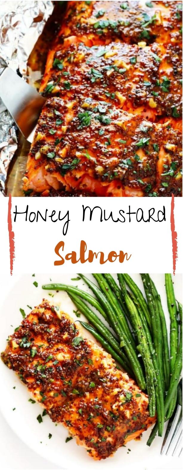 Honey Mustard Salmon #salmon #dinner