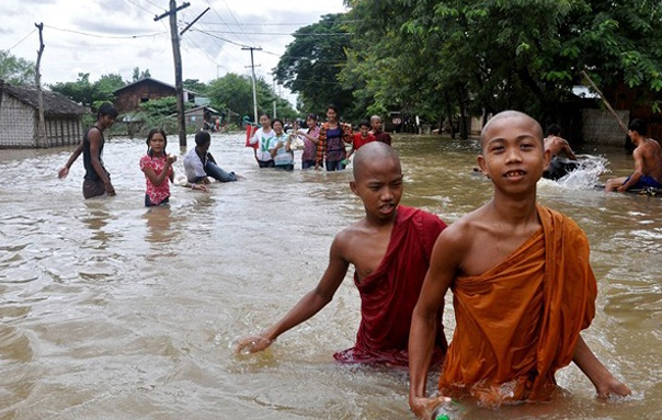 Myanmar Dilanda Banjir, PBB : 148 Ribu Warga Terpaksa Mengungsi