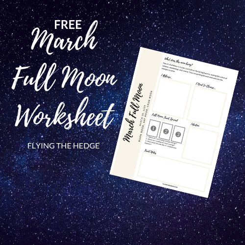 March 2019 Full Moon Worksheet