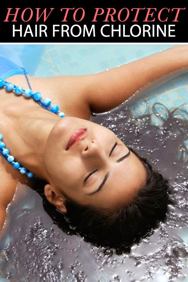 Protect your hair from chlorine damage my favorite things - How to put chlorine in swimming pool ...