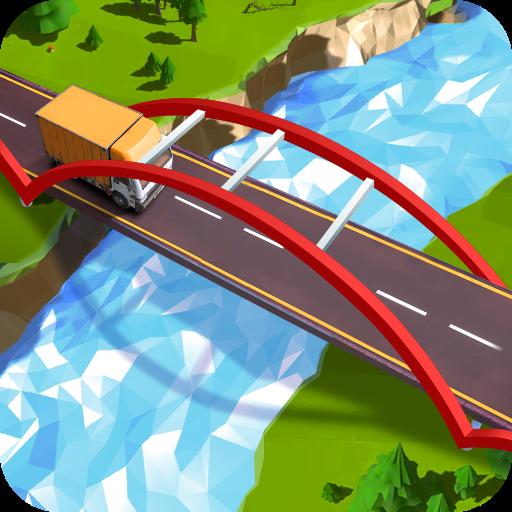 تحميل لعبه Path of Traffic- Bridge Building v2.1.0 - مسار المرور - بناء الجسر مهكره