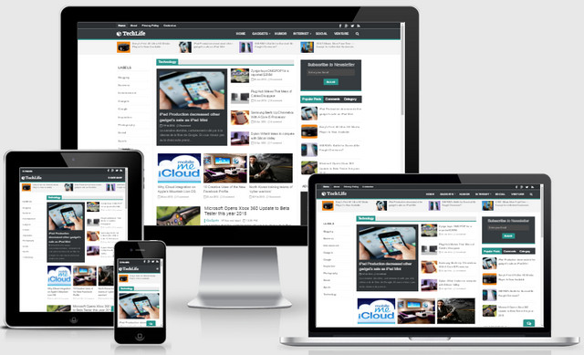 Tech Life Responsive Blogger Templates