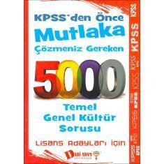 Dahi Adam KPSS Lisans Mutlaka Çözmeniz Gereken 5000 Temel Genel Kültür Sorusu (2016)