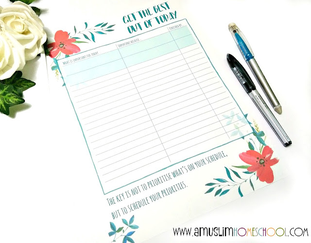 morning daily planner printable