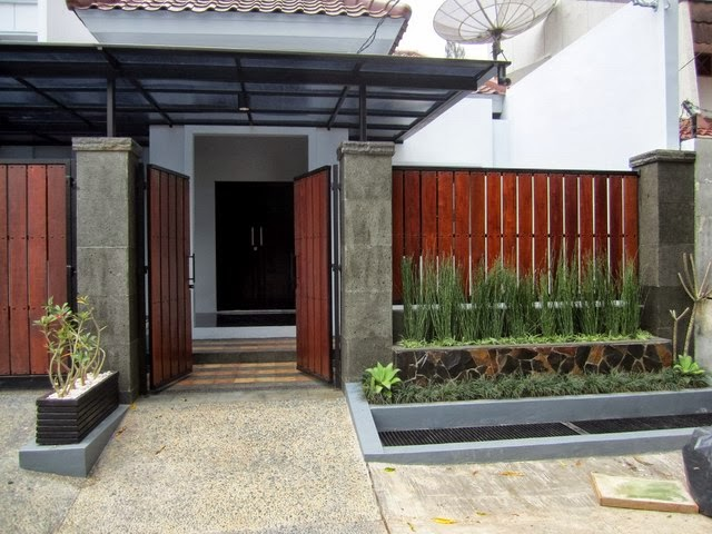 Desain Pagar Rumah Minimalis Home House Cottage And Everything