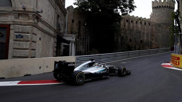 Latihan Bebas GP F1 Baku : Hamilton-Rosberg 1-2