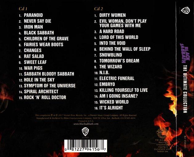 BLACK SABBATH - The Ultimate Collection [2CD Digipak remastered] (2017) digipak