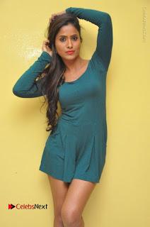 Telugu Actress Prasanthi Stills in Green Short Dress at Swachh Hyderabad Cricket Press Meet  0017.JPG