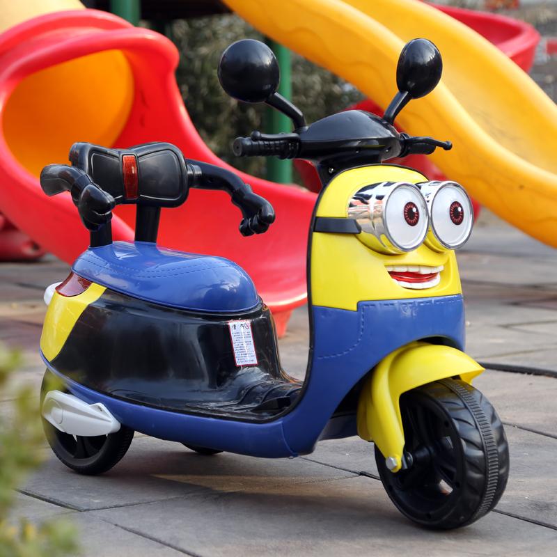 Little Kiddo Store Minion Electric Battery Kids Ride On
