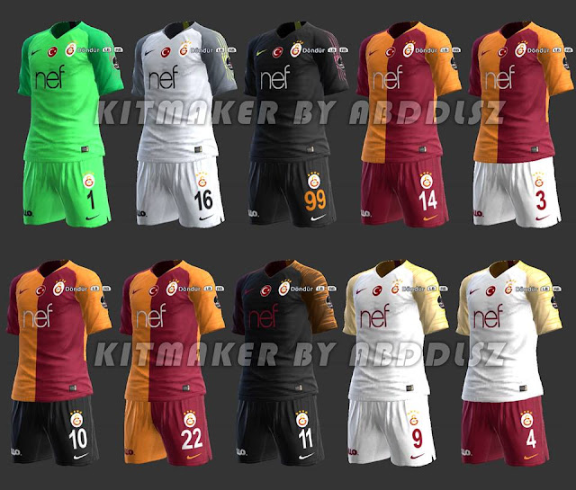 d7f9a2a2642 PES 2013 Galatasaray 2018-19 Full Kits-Set