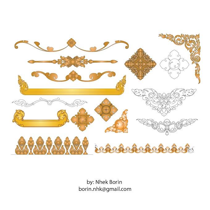 khmer Ornament angkor vector khmer frame free vector
