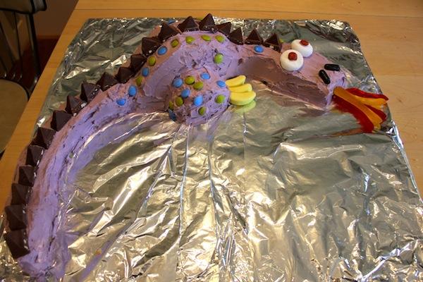 Remarkable Green Gourmet Giraffe Dragon Birthday Cake Personalised Birthday Cards Veneteletsinfo