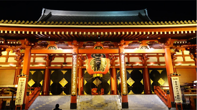 Sensoji Temple ketika malam