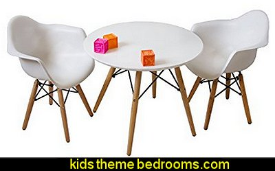Kids Eames Style Retro Modern Colorful Dining Room Mid Century Shell Chair Metal Natural Wood Dowel Leg Base Plastic Molded Armchair Children Accent Kid Designer Side Chairs