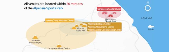 Mapa de Pyeongchang 2018 con Dokdo