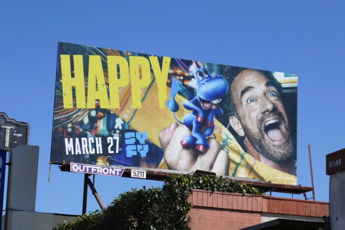 Happy season 2 Syfy billboard